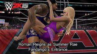 WWE 2K15 PC Mod - Roman Reigns as Summer Rae (Fandango