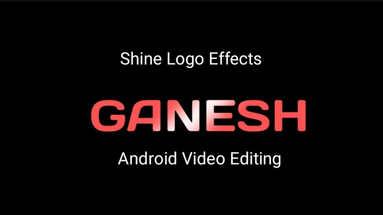 Easy Way to create shine effect logo text animation | Android Video Editing