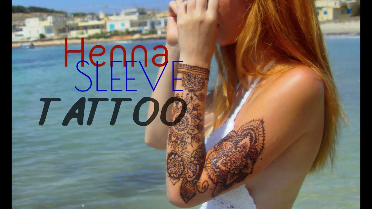 How To Henna Sleeve Tattoo Stella Youtube