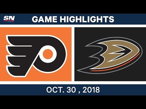 NHL Highlights | Flyers vs. Ducks - Oct. 30, 2018