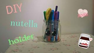 DIY nutella pencil holder
