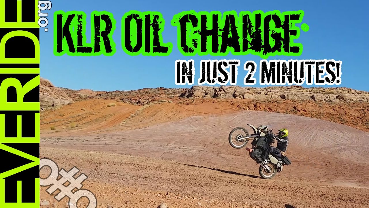 kawasaki klr 650 oil change - all details in 2 minutes o#o