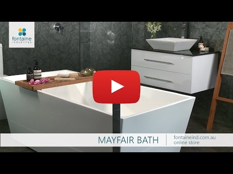 Mayfair Square Freestanding Bath Bathtub Modern 1500 1700 [fontaineind.com.au]