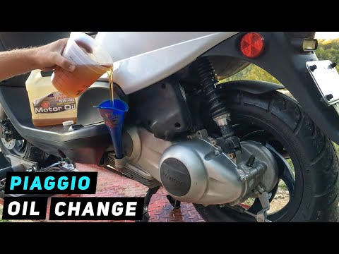 Piaggio Fly - Engine Oil Change | Mitch's Scooter Stuff