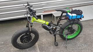 """มอเตอร์ไฟฟ้าแรงๆสำหรับจักรยานไฟฟ้า 1500W ติดตั้งบน fatbike ขนาด 20"""" โดย Bangkok E-bike"""