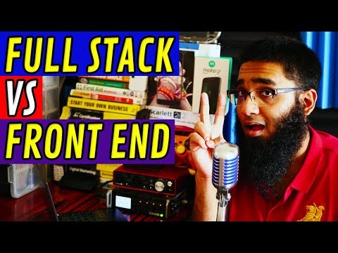Web Developer: Full Stack Vs Front End Developer! [4K]