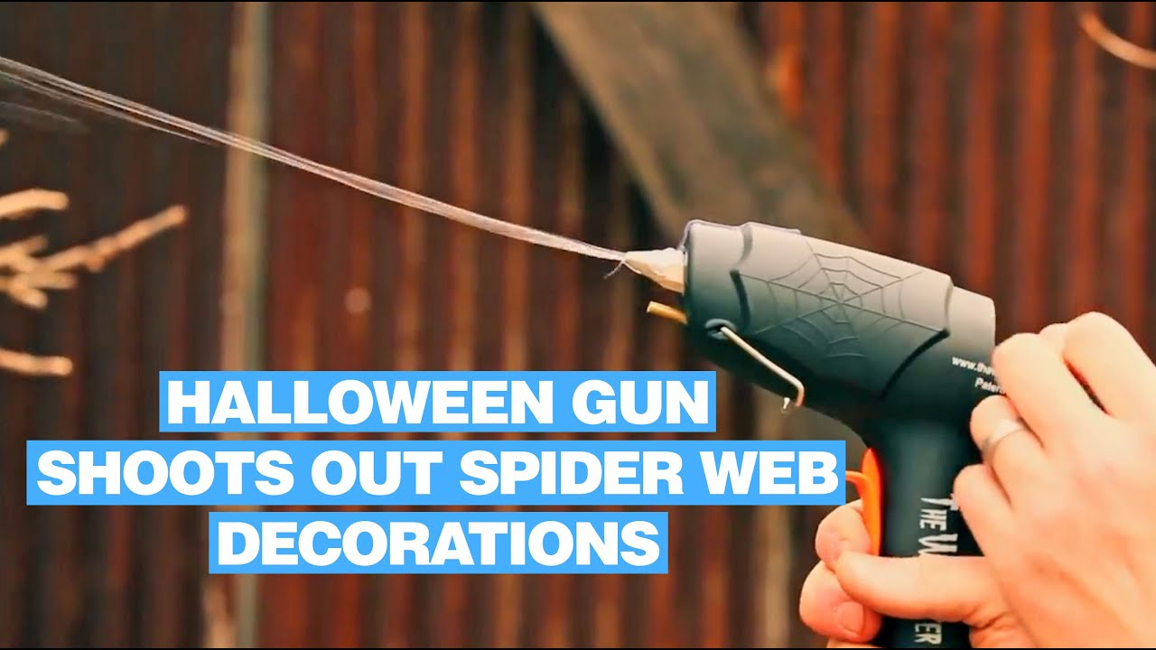 webcaster gun halloween gun that shoots out spider web decorations youtube - Halloween Spider Web Decorations