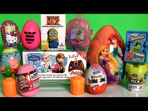 Giant Disney Princess Surprise Eggs Boxes Peppa MonsterHigh