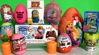 Giant Disney Princess Surprise Eggs Boxes Peppa MonsterHigh Frozen Princess Shopkins Surprise Basket