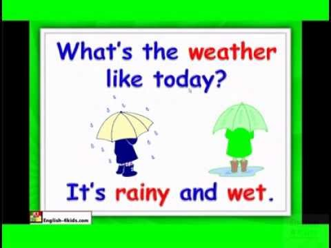 Weather ,English for kids Vocabulary ESL kids Lesson .flv