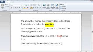 Put Options Lesson 1: How to Sell Puts For Income