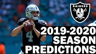 Oakland Raiders 2019 Game By Game Record Predictions