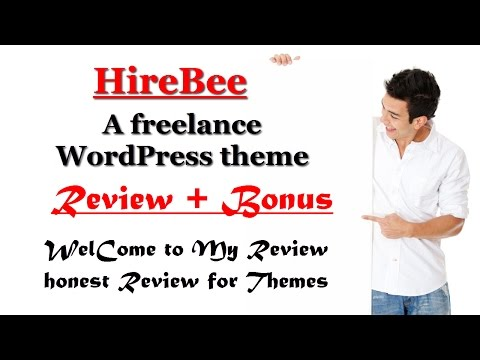 HireBee A freelance WordPress theme Review and Bonus