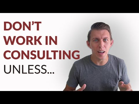 Five things to consider BEFORE working in consulting
