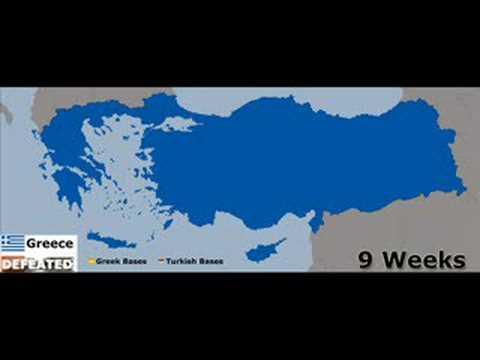 Greece - Turkey War - YouTube