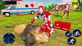 Ironman Doctor Robot Wild Animals Rescue :City Rescue 2020 - Android Gameplay FHD