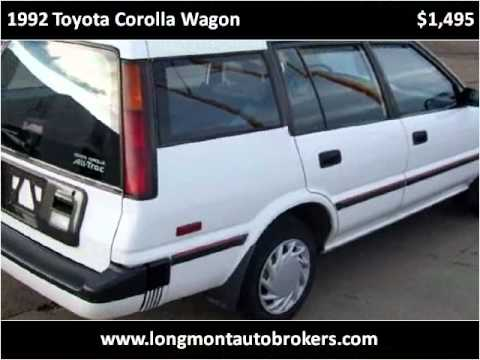 1992 toyota corolla wagon used cars longmont co youtube. Black Bedroom Furniture Sets. Home Design Ideas