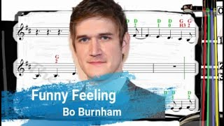 Funny Feeling | Bo Burnham | Violin SHEET MUSIC [With Fingerings] [Level 3]