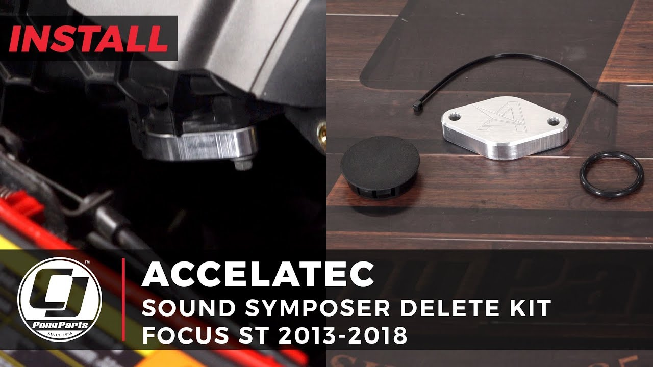 focus st engine bay cleanup | accelatec sound symposer delete kit focus st  2013-2018