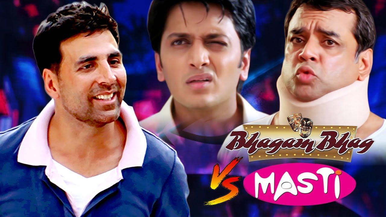 Bhagam Bhag V/S Masti - Best of Hindi Comedy Scenes | Akshay Kumar - Paresh Rawal - Riteish Deshmukh