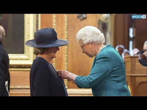 Maggie Smith, Downton Abbey Star, 79, Honored By Queen Elizabeth II