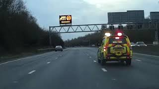 Smart motorway One car closes all 4 lanes on M25 for 15 minutes
