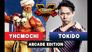 FANTASTIC MATCH! YHCMochi vs Tokido - Dhalsim vs Akuma - Street Fighter V Arcade Edition