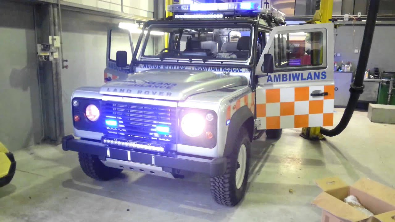 Mountain rescue land rover defender 110 fitted with whelen freedom mountain rescue land rover defender 110 fitted with whelen freedom led light bars aloadofball Choice Image