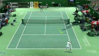 Virtua Tennis 2009 Nintendo Wii Gameplay - Roddick vs
