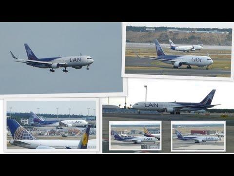 LAN AIRLINES Boeing 767-316ER arrival,taxiing,parking@Frankfurt Airport FRA/EDDF