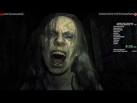 Resident Evil 7 Speedrun NG Madhouse 1:38:34