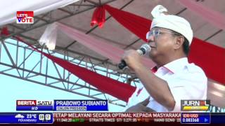 Prabowo Janji Bangun Infrastruktur di Bali