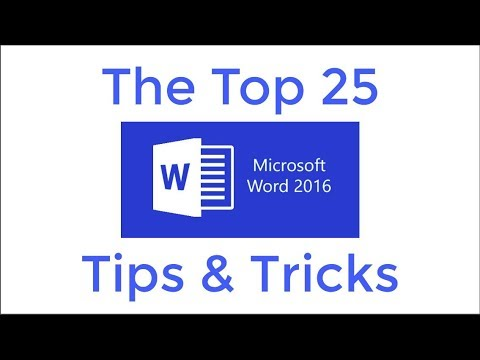Top 25 Word 2016 Tips And Tricks Youtube