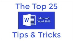 Top 25 Word 2016 Tips and Tricks