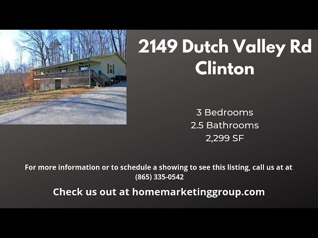 2149 Dutch Valley Rd, Clinton TN | Basement Ranch On Over 17 Acres