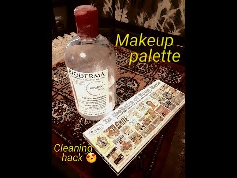 Makeup palette cleaning hack || My family confettis