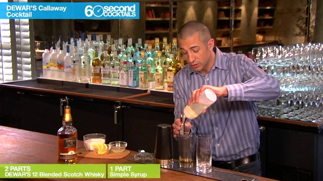 60 Second Cocktails - How to Mix a DEWAR'S Callaway Cocktail