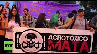 Brazil: Mass anti-Monsanto rally sweeps Rio de Janeiro