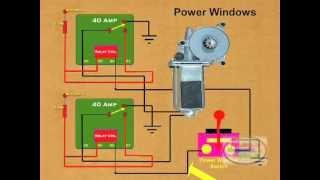 How to Wire a Power Window Relay - YouTube | Ae92 Power Window Wiring Diagram |  | YouTube