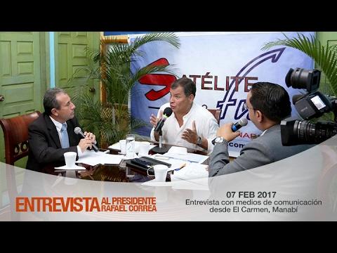 Entrevista con medios de comunicación desde El Carmen, Manabí