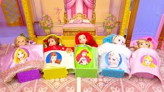 プリンセスお姫様 ベットルーム手作り工作 DIY❤️ミニチュアドールハウス ✨アナ雪エルサ 手作り工作 DIY❤️ Barbie Dolls Bedroom Crafts
