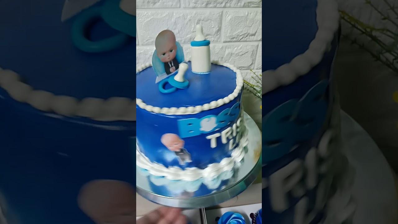 Baby Boss Cake Design Using Boiled Icing