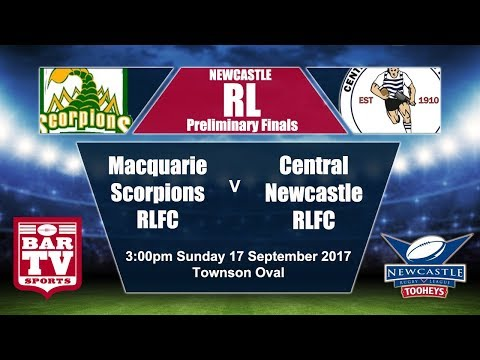 2017 Newcastle RL Preliminary Final - Macquarie Scorpions v Central Newcastle