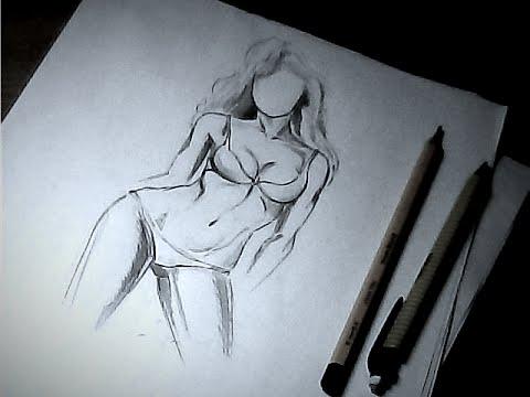 Как нарисовать голую девушку поэтапно
