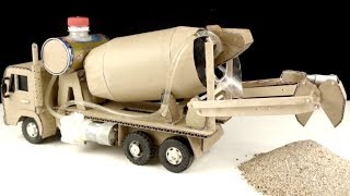 How to make Mixer Truck - Self Loading Concrete Mixer Truck