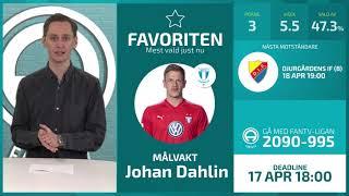FanTV Allsvenskan Fantasy Deadline inför Gameweek 2