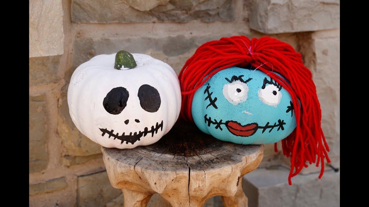 Jack Skellington And Sally Pumpkins
