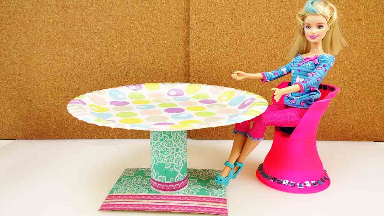 Diy m bel deutsch runder tisch f r barbie anleitung for Accessori per la casa di barbie