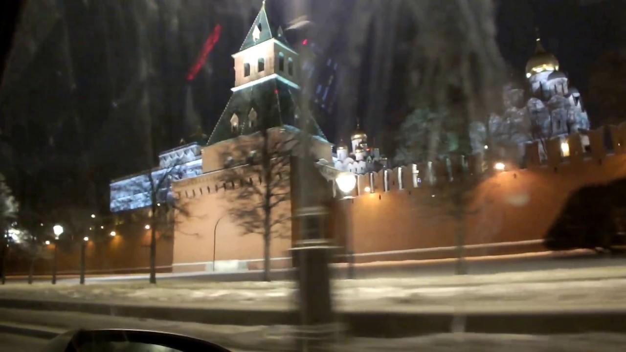 Ночная Москва перед Новым. 2017 Годом.Кремль и Калининский проспект.