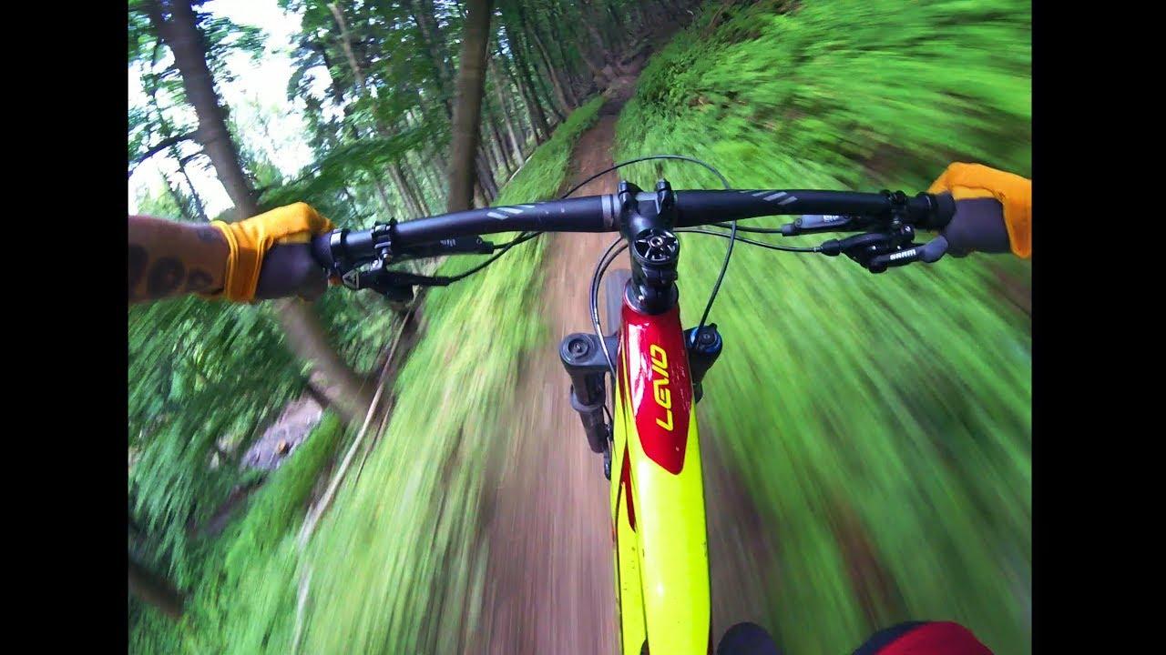 Specialized Levo E-bike warp speed single trails ride.